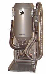 Pulversaugmaschine PSM-Junior-Niedrigbauweise