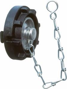 Blindkupplung mit Kette C52, LM mit Kunststoff-Knaggenteil