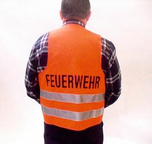 """Warnweste EN 471 mit Aufschrift """"FEUERWEHR"""""""