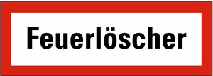 Schild: Feuerlöscher KU