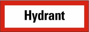 Schild: Hydrant KU