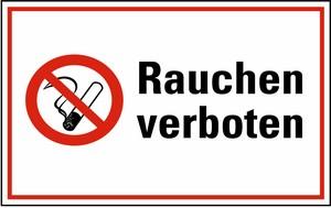 Warn-, Hinweis- und Verbotsschild Rauchen verboten KU 200x300