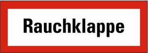 Schild: Rauchklappe KU 297 x 105