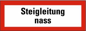 Schild: Steigleitung naß KU 297 x 105