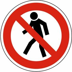 Verbotsschild DIN 4844 Für Fußgänger verboten Ø 200