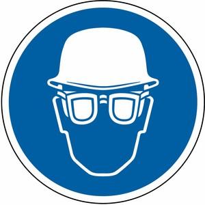 Kopf- und Augenschutz tragen AG Ø 200