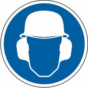 Kopf- und Gehörschutz tragen FO Ø 200