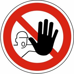 Verbotsschild DIN 4844 Zutritt verboten AG Ø 200