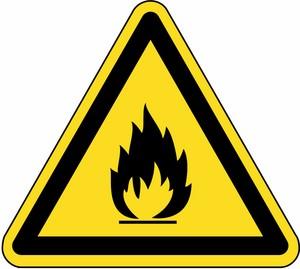 Warnung vor feuergefährlichen Stoffen FO