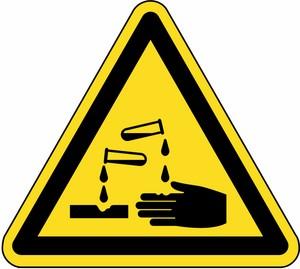 Warnung vor ätzenden Stoffen FO
