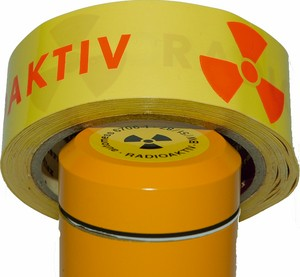 Folien-Absperrband Radioaktiv