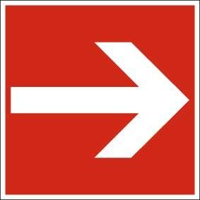 Brandschutzzeichen ISO 7010 Richtungspfeil gerade KN