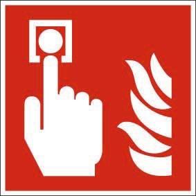 Brandschutzzeichen ISO 7010 Brandmelder KN