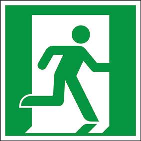 Rettungszeichen ISO 7010 Rettungsweg rechts 150 KN