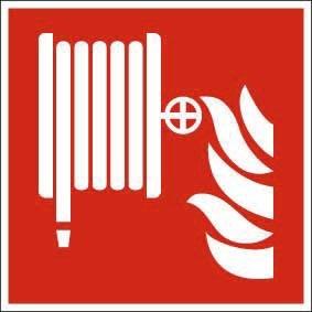 Brandschutzzeichen ISO 7010 Löschschlauch FN Ausführung TOTAL