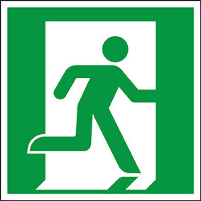 Rettungszeichen ISO 7010 Rettungsweg rechts 200 KN