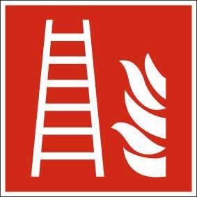 Brandschutzzeichen ISO 7010 Leiter KN