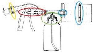 Ersatzteil-Set BLAU für MSP KR 03/90