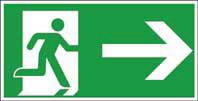 Rettungsweg rechts ISO/ASR FN 400x200