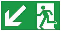 Rettungsweg unten links ISO/ASR KN 400x200