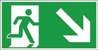 Rettungsweg unten rechts ISO/ASR FN 400x200