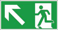 Rettungsweg oben links ISO/ASR KN 300x150