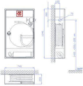 WH-Schrank SM 6/12-200, VA-LR, grau, WM