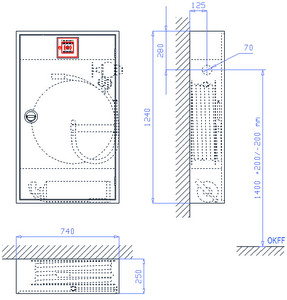 WH-Schrank SM 6/12-200, VA-LR, rot, WM