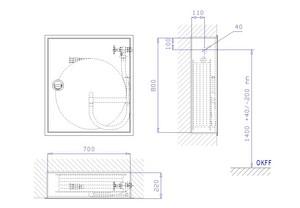 WH-Schrank E 200/35-S, VA-LR, grau, WM